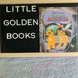 Little Golden Book Lion King The Cave Monster 1996